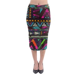 Cute Hipster Elephant Backgrounds Midi Pencil Skirt