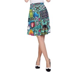 Comics A Line Skirt