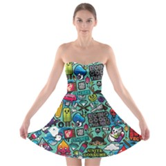 Comics Strapless Bra Top Dress