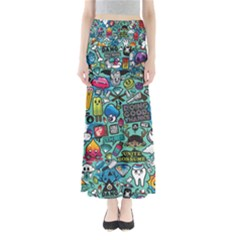 Comics Full Length Maxi Skirt