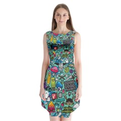 Comics Sleeveless Chiffon Dress