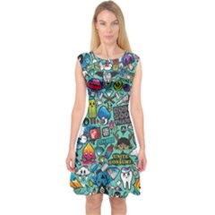 Comics Capsleeve Midi Dress