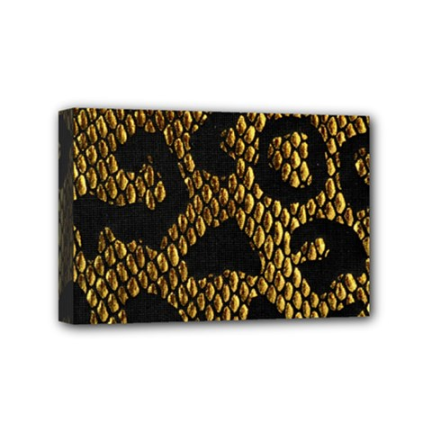 Metallic Snake Skin Pattern Mini Canvas 6  X 4