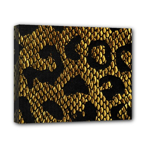 Metallic Snake Skin Pattern Canvas 10  x 8