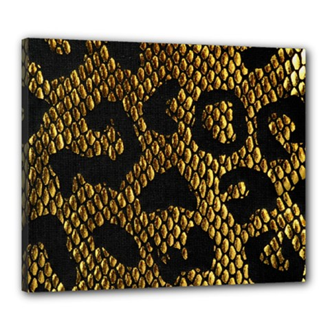 Metallic Snake Skin Pattern Canvas 24  X 20