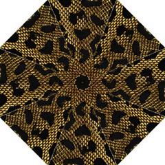 Metallic Snake Skin Pattern Folding Umbrellas