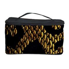 Metallic Snake Skin Pattern Cosmetic Storage Case