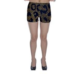 Metallic Snake Skin Pattern Skinny Shorts