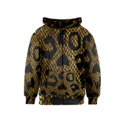 Metallic Snake Skin Pattern Kids  Zipper Hoodie