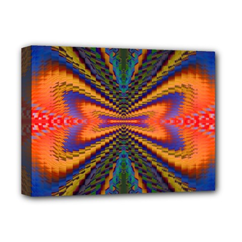 Casanova Abstract Art Colors Cool Druffix Flower Freaky Trippy Deluxe Canvas 16  X 12