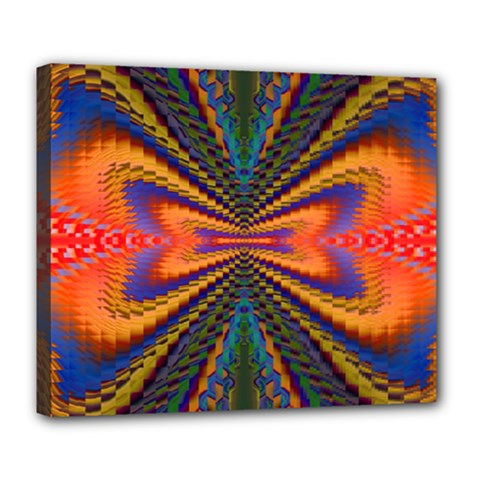 Casanova Abstract Art Colors Cool Druffix Flower Freaky Trippy Deluxe Canvas 24  x 20