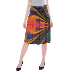 Casanova Abstract Art Colors Cool Druffix Flower Freaky Trippy Midi Beach Skirt