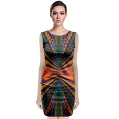 Casanova Abstract Art Colors Cool Druffix Flower Freaky Trippy Classic Sleeveless Midi Dress