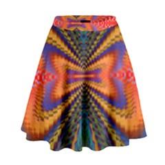 Casanova Abstract Art Colors Cool Druffix Flower Freaky Trippy High Waist Skirt
