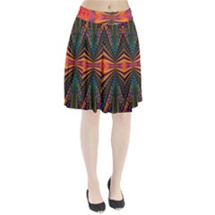 Casanova Abstract Art Colors Cool Druffix Flower Freaky Trippy Pleated Skirt