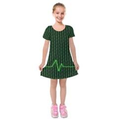 01 Numbers Kids  Short Sleeve Velvet Dress