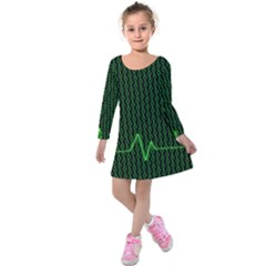 01 Numbers Kids  Long Sleeve Velvet Dress