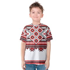 Consecutive Knitting Patterns Vector Kids  Cotton Tee