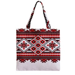 Consecutive Knitting Patterns Vector Zipper Grocery Tote Bag