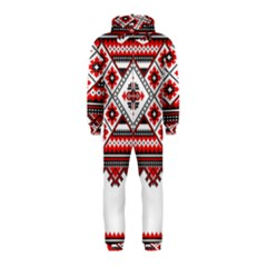 Consecutive Knitting Patterns Vector Hooded Jumpsuit (Kids)