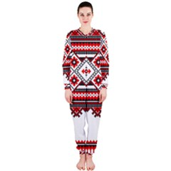 Consecutive Knitting Patterns Vector OnePiece Jumpsuit (Ladies)