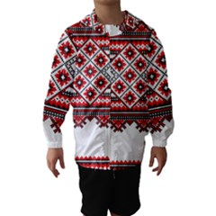 Consecutive Knitting Patterns Vector Hooded Wind Breaker (kids)