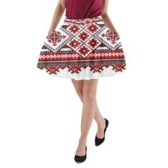 Consecutive Knitting Patterns Vector A-Line Pocket Skirt