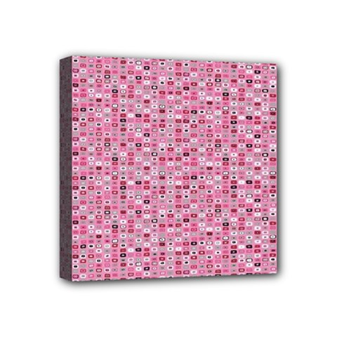 Abstract Pink Squares Mini Canvas 4  X 4