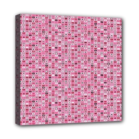 Abstract Pink Squares Mini Canvas 8  X 8