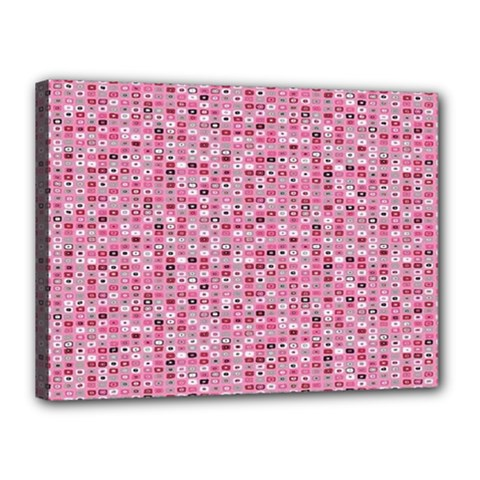 Abstract Pink Squares Canvas 16  x 12
