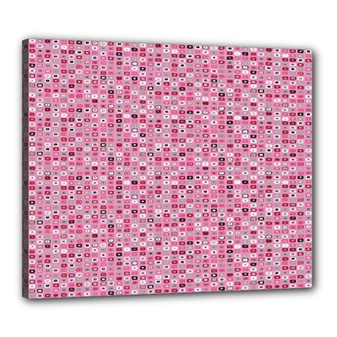 Abstract Pink Squares Canvas 24  x 20