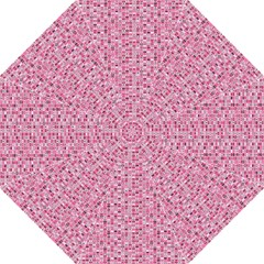 Abstract Pink Squares Folding Umbrellas
