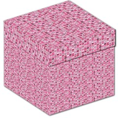 Abstract Pink Squares Storage Stool 12