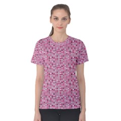 Abstract Pink Squares Women s Cotton Tee