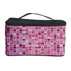 Abstract Pink Squares Cosmetic Storage Case