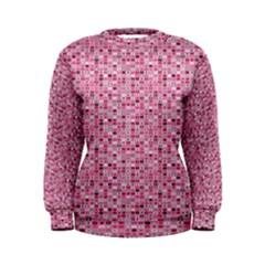 Abstract Pink Squares Women s Sweatshirt