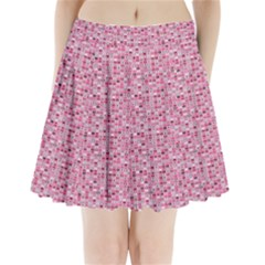 Abstract Pink Squares Pleated Mini Skirt
