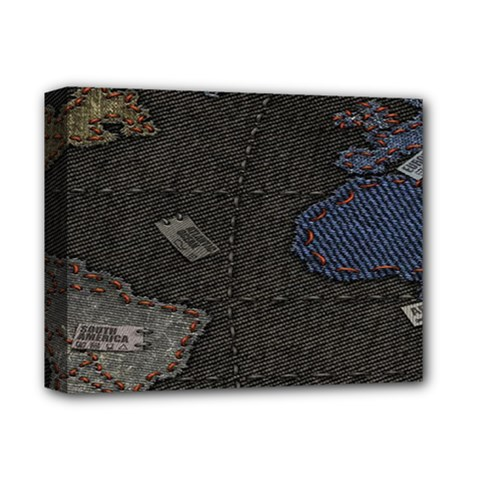 World Map Deluxe Canvas 14  X 11