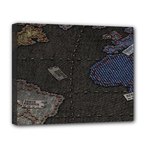 World Map Deluxe Canvas 20  x 16