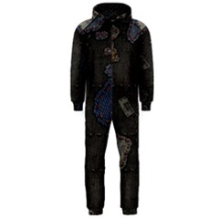 World Map Hooded Jumpsuit (men)