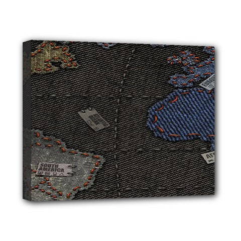 World Map Canvas 10  X 8