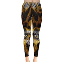 Textures Snake Skin Patterns Leggings