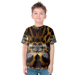 Textures Snake Skin Patterns Kids  Cotton Tee