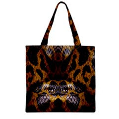 Textures Snake Skin Patterns Zipper Grocery Tote Bag