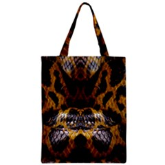 Textures Snake Skin Patterns Zipper Classic Tote Bag