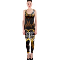 Textures Snake Skin Patterns OnePiece Catsuit