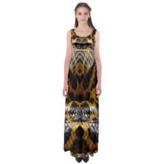 Textures Snake Skin Patterns Empire Waist Maxi Dress