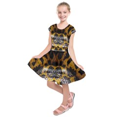 Textures Snake Skin Patterns Kids  Short Sleeve Dress