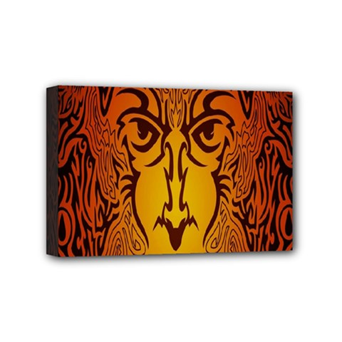 Lion Man Tribal Mini Canvas 6  x 4