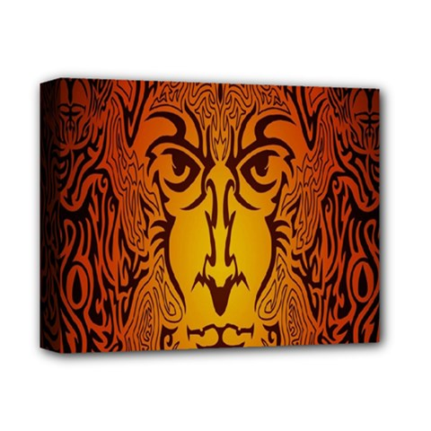 Lion Man Tribal Deluxe Canvas 14  X 11